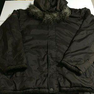 Phat Farm Mens 2XL Brown Reversible Hoodie Jacket